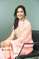 Actress Ritu Varma Pos in Beautiful Pink Anarkali Dress at at Keshava Movie Interview .COM 0209.JPG