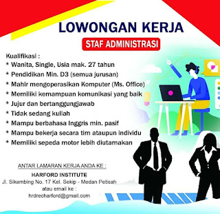 Lowongan Kerja D3 Segala Jurusan Medan November 2020