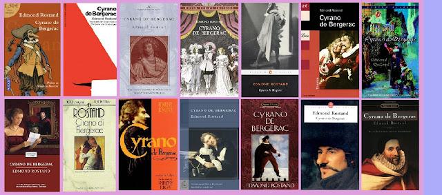 portadas de la novela clásica de aventuras Cyrano de Bergerac, de Edmond Rostand