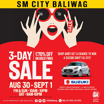 SHOP, SAVE, WIN AT SM CITY BALIWAG'S 3-DAY SALE