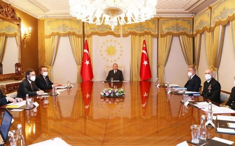 Σύσκεψη υπό τον Ερντογάν για τον καθορισμό της εξωτερικής πολιτικής