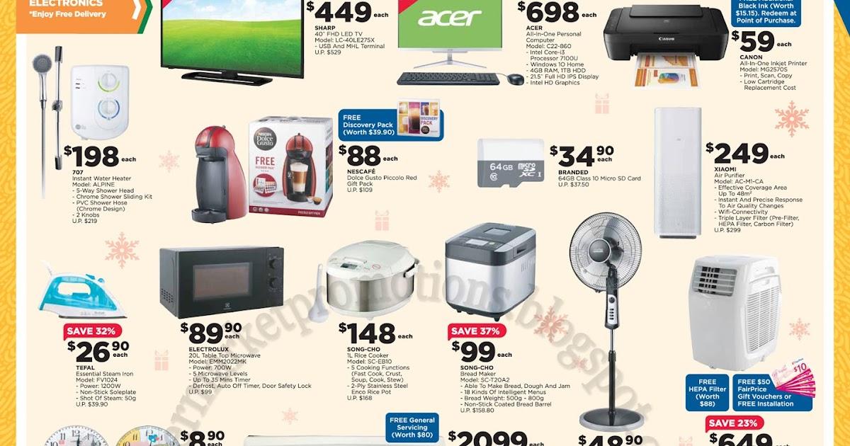 Ntuc Fairprice Xtra Electronics Home Basics Promotion 23