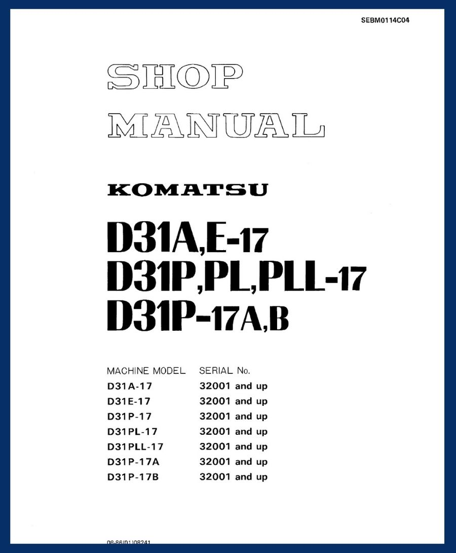 Shop Manual d31p-17 d31e-13 d31a-17 d31pl-17