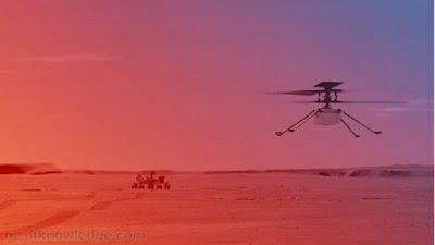 مروحية ناسا إنجينويتي Ingenuity التي دخلت التاريخ كأول طائرة تحلق في سماء المريخ تعيد الكرة و تطير ثانية على سطح الكوكب الأحمر بأداء أفضل