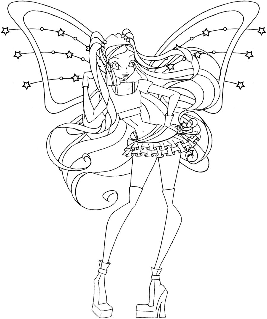 Princess Stella Coloring Pages Pictures