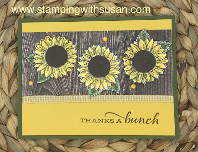 Stampin' Up!, Celebrate Sunflowers, www.stampingwithsusan.com, Playing with Patterns Resin Dots,