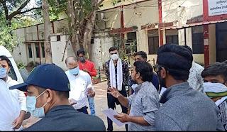 अखिल भारतीय विद्यार्थी परिषद जिला महू ने IUMS प्रणाली के विरोध में दिया राज्यपाल के नाम ज्ञापन