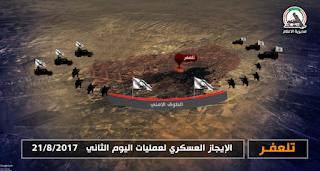العراق - الحشد الشعبي : عمليات قادمون يا تلعفر .. الإيجاز العسكري لعمليات اليوم الثاني 21 / 8 / 2017