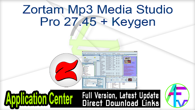 Zortam Mp3 Media Studio Pro 27.45 + Keygen