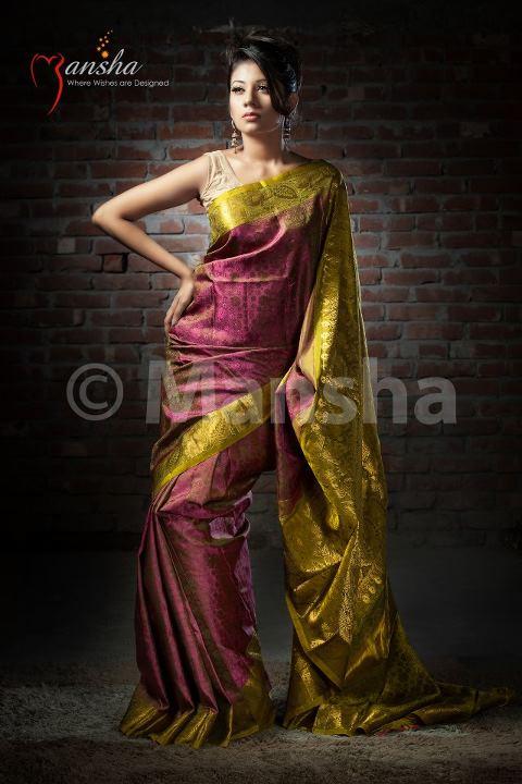 Mansha Lacha Designer Saree Blouse Collection 2012 She