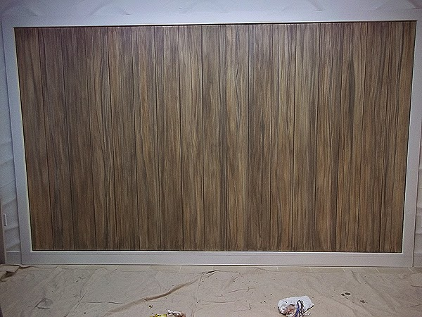 Painting A Wall To Look Like Driftwood Planks Everything