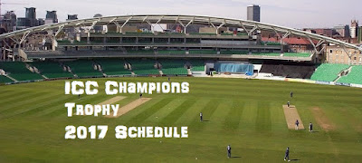 Schedule for ICC Champions Trophy 2017