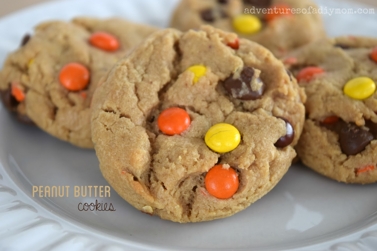 Peanut Butter Cookies with Reese's Pieces Recipe