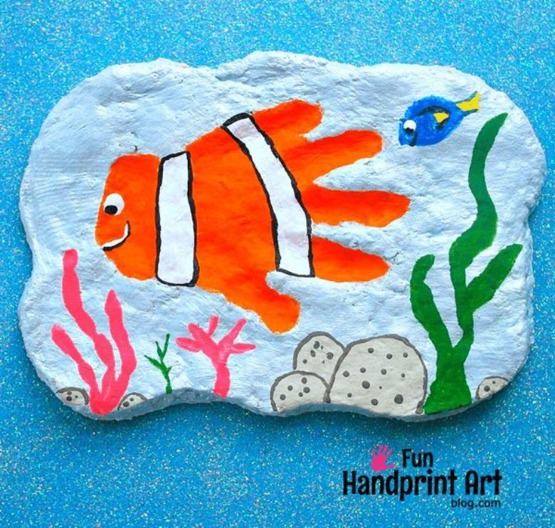 nemo salt dough handprint