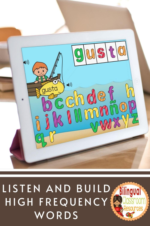 BOOM Cards Construye palabras de uso frecuente