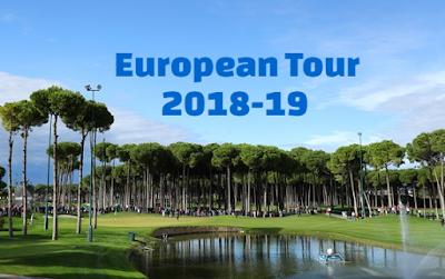 Golf, European Tour, 2018, 2019. Schedule. dates, calendar. british masters, abu dubai championship.