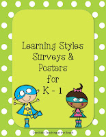https://www.teacherspayteachers.com/Product/Learning-Style-Survey-and-Posters-for-K-1-UPDATED-532616