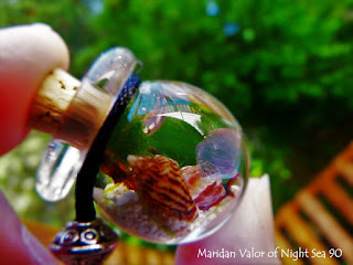 Summer butterflies and marimo moss balls; photography fun with my marimo necklace