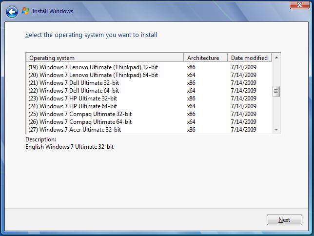 Windows 7 OEM 48 in 1 x86/x64 Full ISO Link nhanh