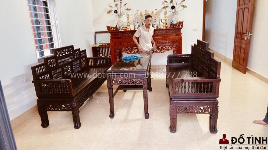 35 mẫu bàn ghế trường kỷ gỗ đẹp nhất mọi thời đại - Ảnh: Dotinh.com