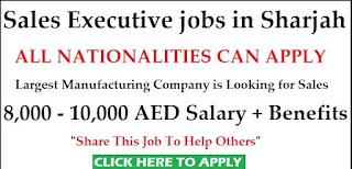 Sales Executive Job Recruitment for Foodstuff Company Sharjah Location