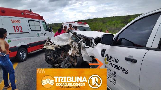 Grave acidente é registrado na BR 304, próximo a Caiçara do Rio do Vento