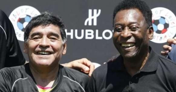 Pele reacts to death of Diego Maradona