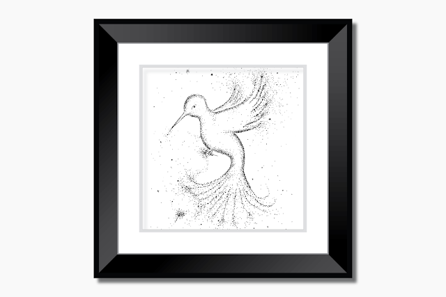 Bird Black and White Art