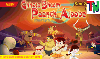 "Watch Online And Download Chhota Bheem New Movie ""Chhota Bheem Paach Ajoobe"" Full Movie In HINDI In 1080p,720p, HD Only On TOONWOOD"