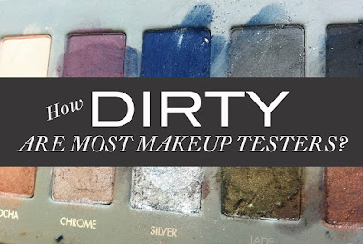 How dirty and contaminated with bacteria are most makeup testers in stores?