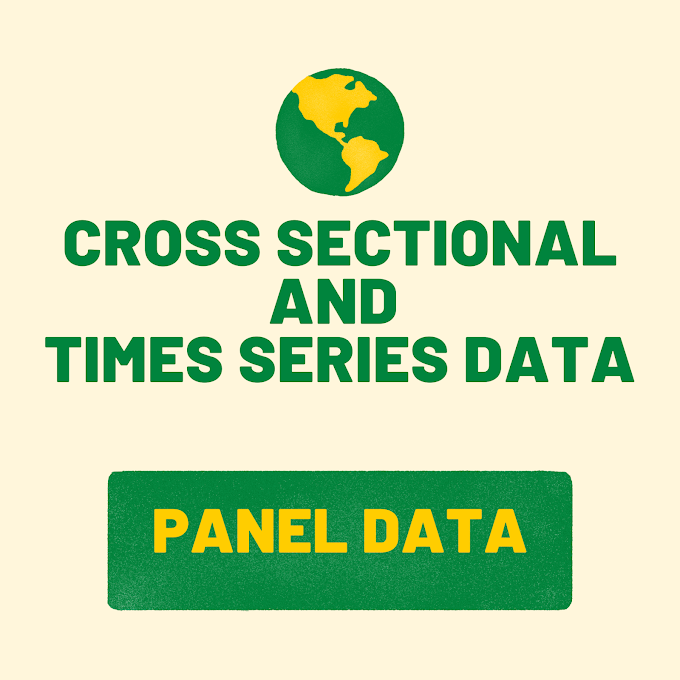 Cross sectional data and time series data
