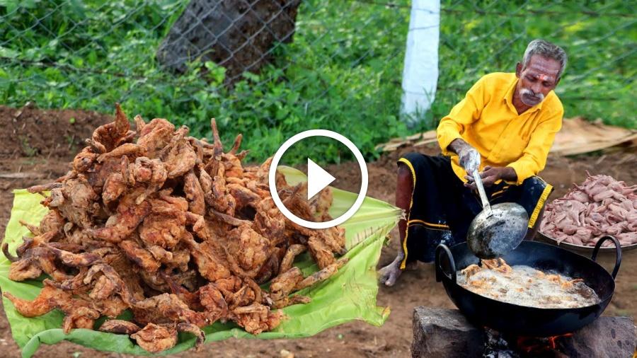 QUAIL KFC Recipe Prepared by my Daddy Arumugam / Village food factory