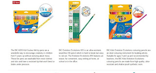 Great sets, BiC Kid's Ecolutions! Never break colouring pen and pencils, offer £7.19