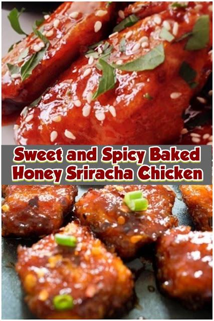 #Sweet #and #Spicy #Baked #Honey #Sriracha #Chicken