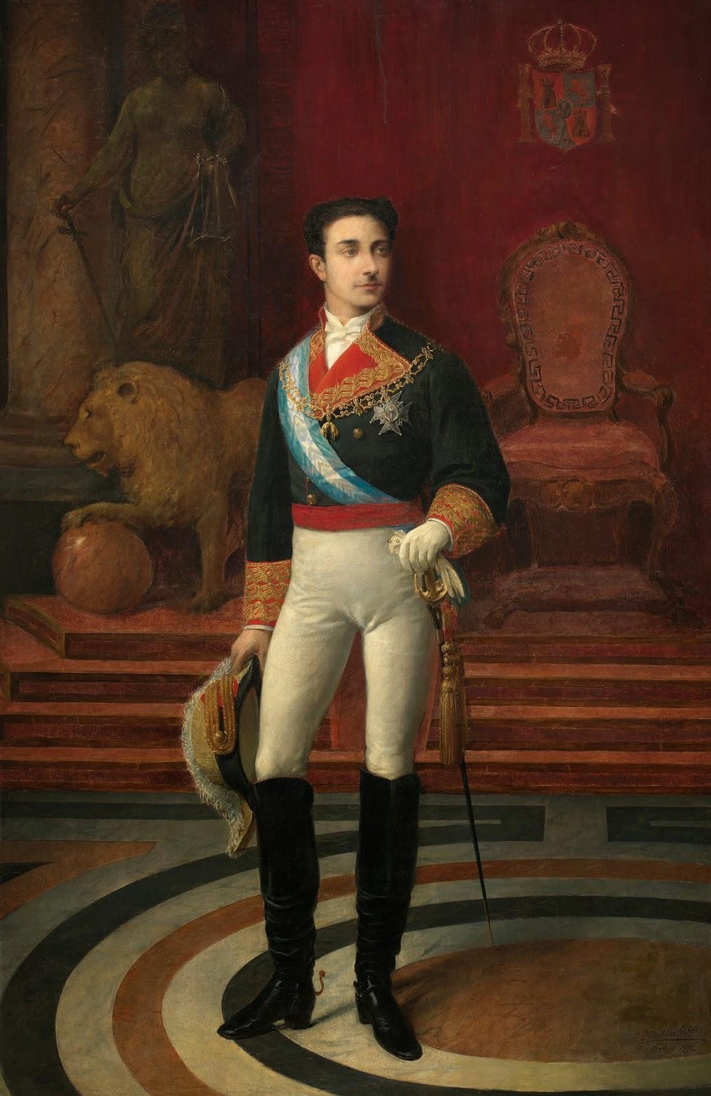 Tal da como hoy en Madrid 23 enero 1878 el rey Alfonso XII se casa por amor con la infanta