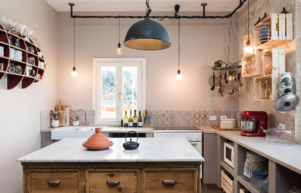 Ristrutturazione di un appartamento di fine 39 900 a roma - Cucina stile vintage ...