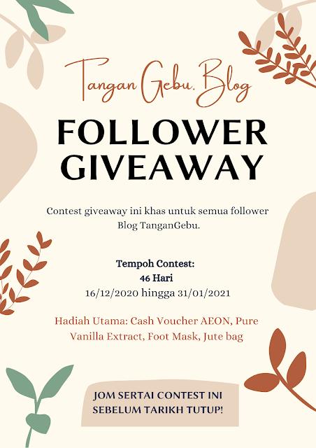 Giveaway by Blog Tangan Gebu