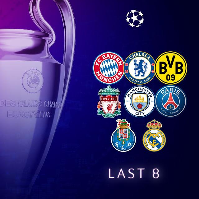 الفرق المتأهلة إلى الدور ربع النهائي من دورى أبطال أوروبا 2021