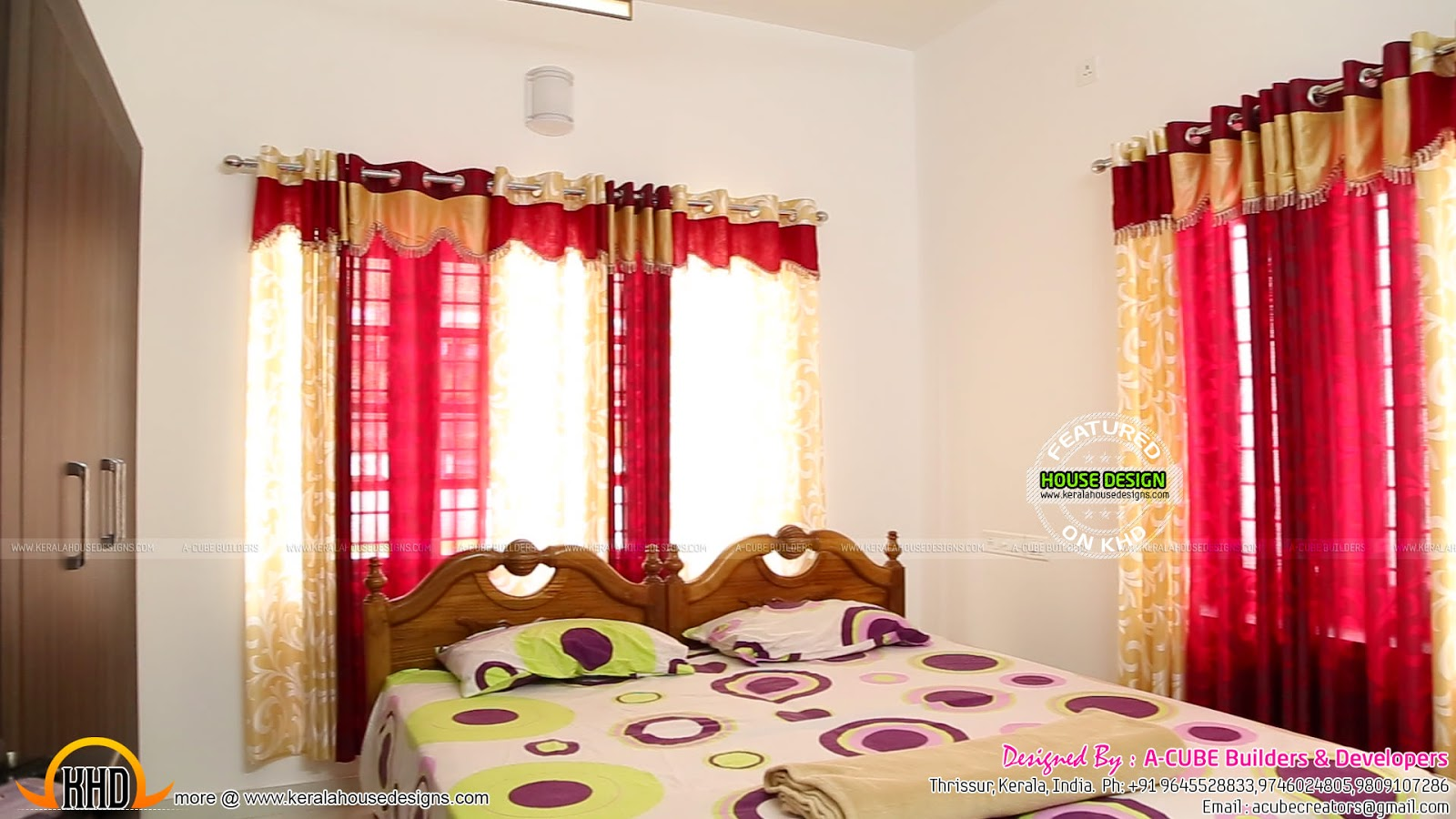 House completed with interior design photographs  Kerala home design and floor plans