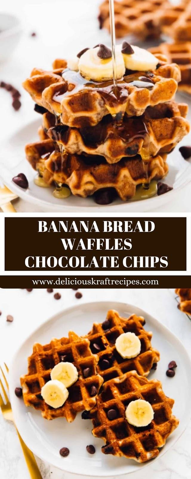 BANANA BREAD WAFFLES CHOCOLATE CHIPS