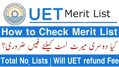 UET Merit List 2021 1st, 2nd, 3rd, List of Selected Students