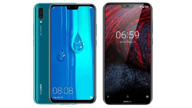 Huawei Y9 (2019) vs Nokia 6.1 Plus