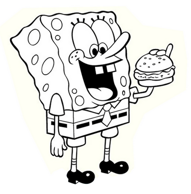 bryanandkatielord: Funny Spongebob Black And White