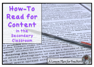 Tips on how to teach reading for content in the secondary classroom