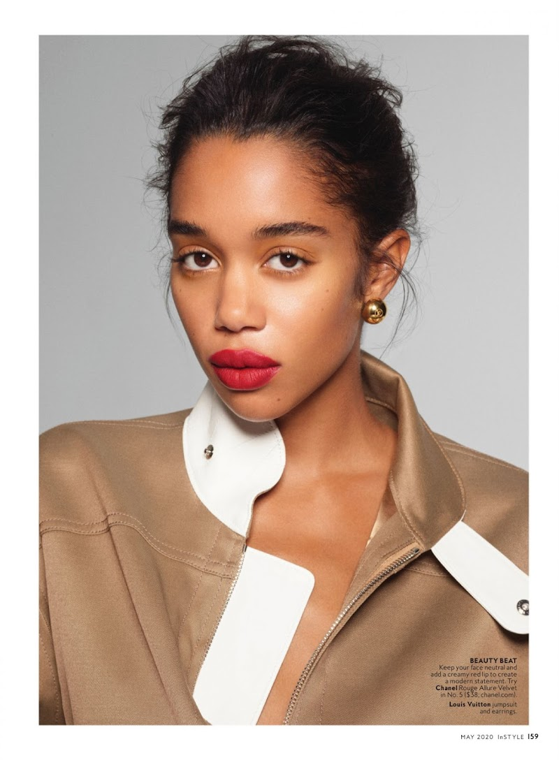 Laura Harrier Featured In InStyle Magazine May 2020 Issue | Celebrity Photos Daily