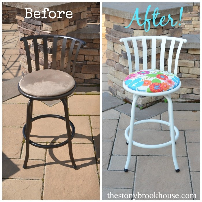 Barstool Makeover Before & After