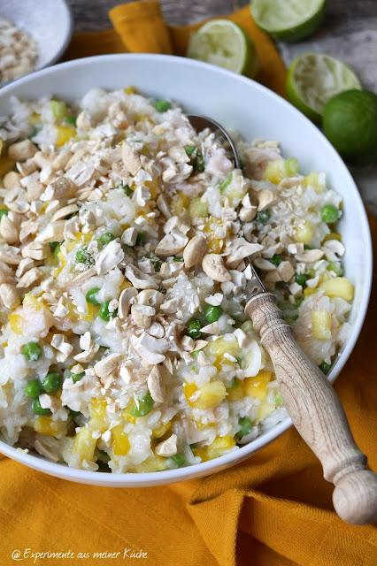 Ananas-Reissalat | Rezept | Essen | Kochen | kalte Küche | Sommerküche | Weight Watchers