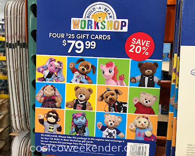 Let your child customize their own stuffed animal with Build-A-Bear gift cards