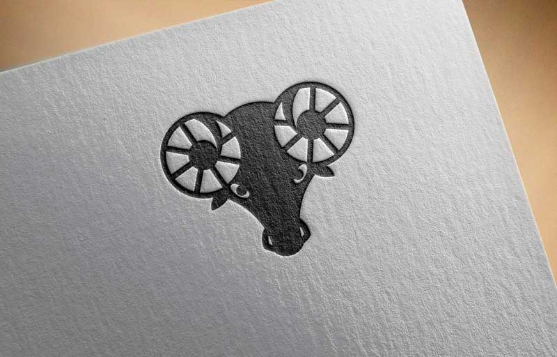 Download Free Aries Zodiac Logo for Business