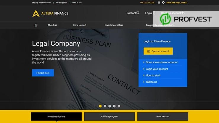 Altera Finance обзор и отзывы HYIP-проекта